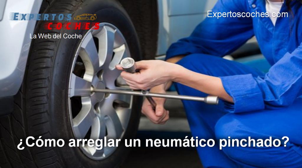 cómo arreglar un neumático pinchado